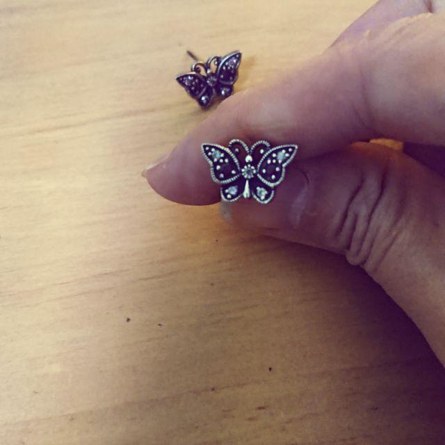 [現貨]ANNA SUI 安娜蘇蝴蝶紫水鑽耳環 💯正貨
