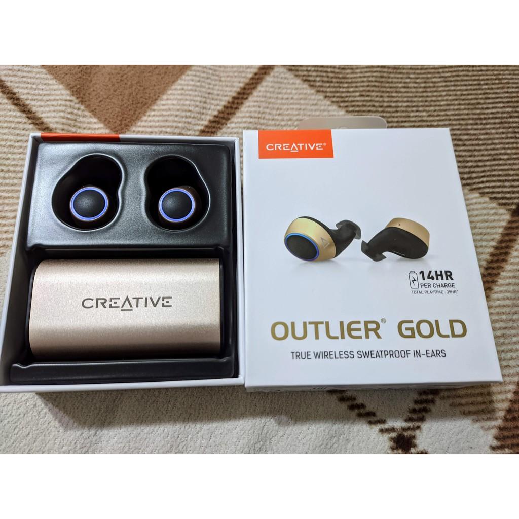 Creative outlier air gold 14小時音樂播放