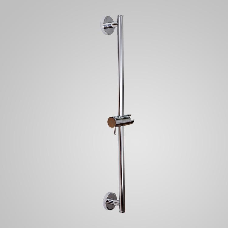 帶可調節手持花灑支架的浴室用淋浴滑桿壁掛式拋光SUS 304不銹鋼收納架