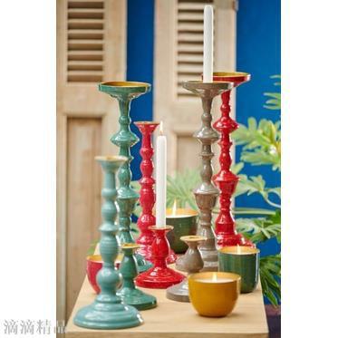 荷蘭 Pip studio 彩色搪瓷塗層 歐式金屬燭臺擺件