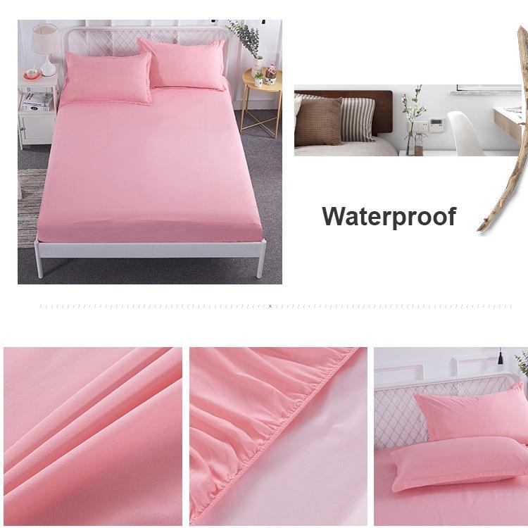 西西比 床包式防水保潔墊 單人/雙人/加大雙人 加厚防水親膚面料 玉粉色