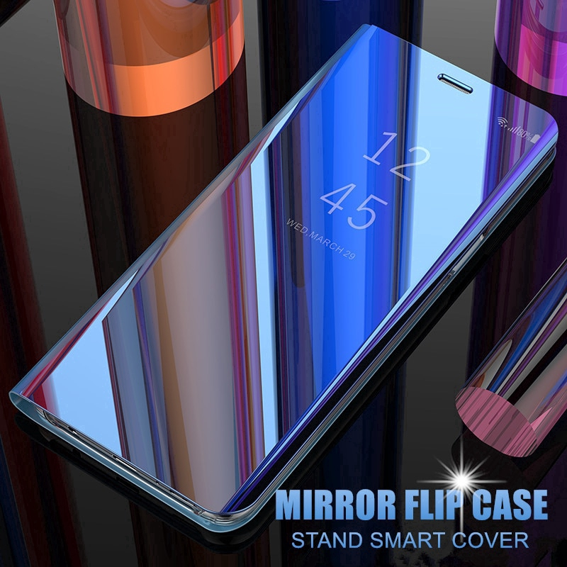 殼三星 Galaxy A80 A70 A50 A30 A20 A10 M30 M20 M10 Case 豪華鏡面智能翻蓋