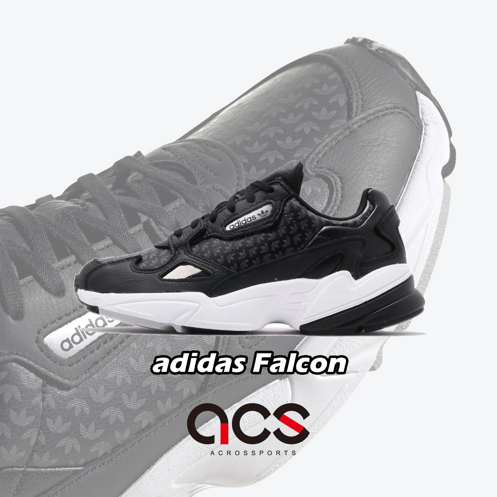 adidas 休閒鞋 Falcon W 黑 白 女鞋 老爹鞋 運動鞋 FV9033 【ACS】