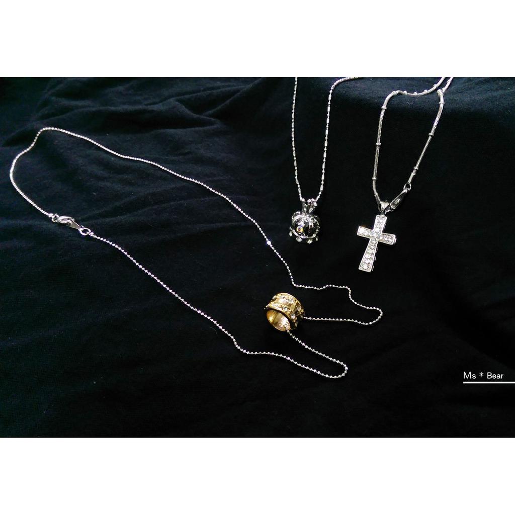飾品 戒指 項鏈 手環 髮夾 耳鉤 手鍊 (皇冠 小熊 鑽石 海星 金色 花 十字架 愛心 蝴蝶結