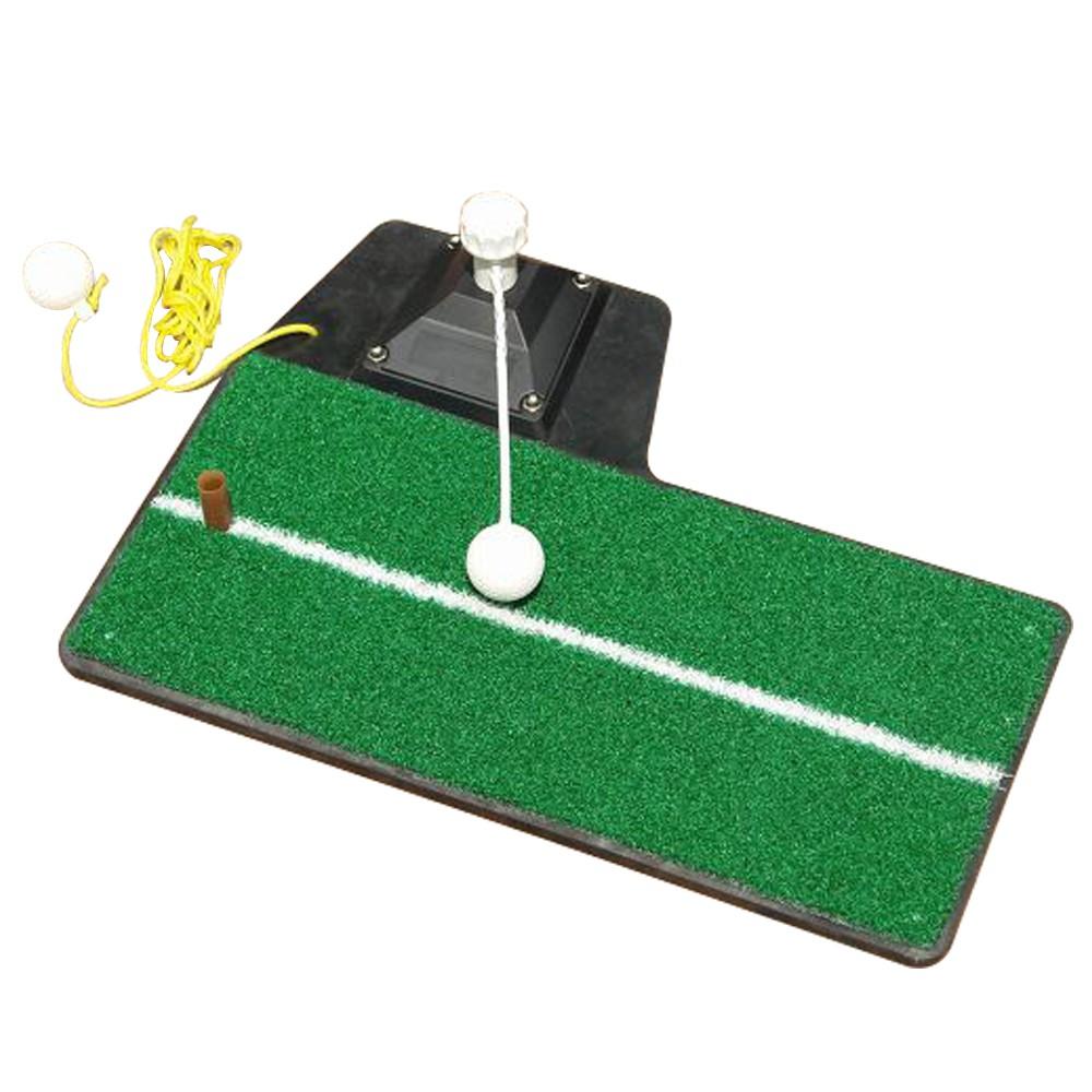 GOLF 高爾夫球室內揮桿打擊草皮練習器 室內外多功能草皮切桿打擊墊練習毯高球運動訓練用品裝備鐵木桿適用附球tee線球