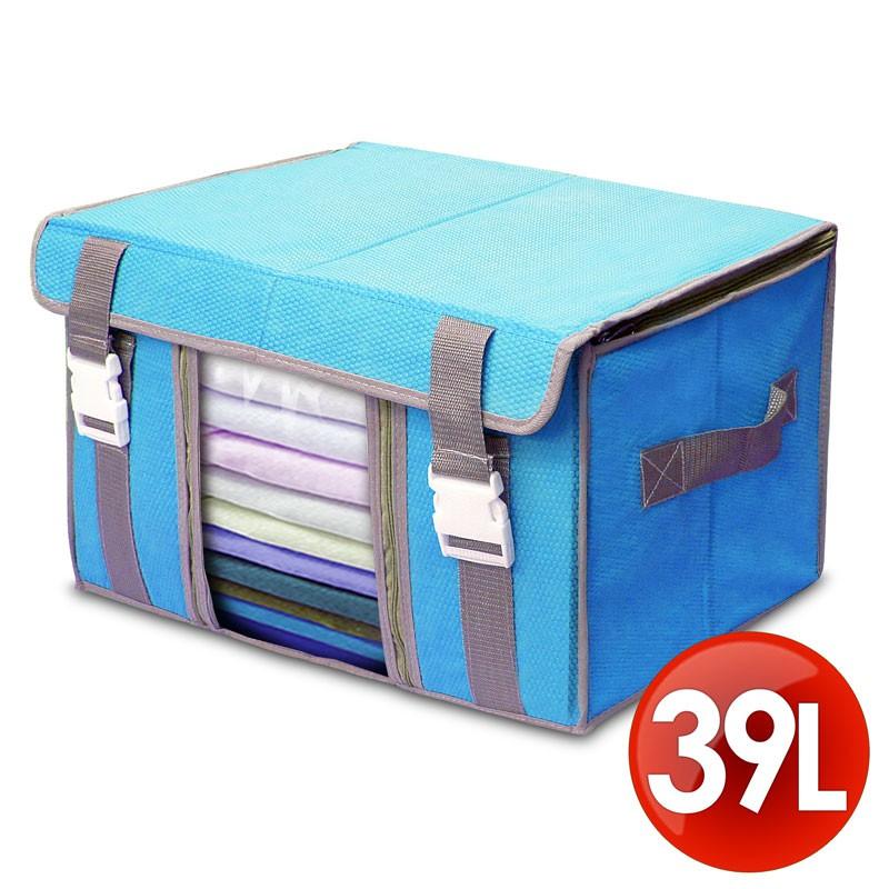 Wally Fun 竹纖維不織布視窗收納箱 居家收納 壓縮袋 購物袋 棉被收納袋 旅行袋--清倉品2.5折價