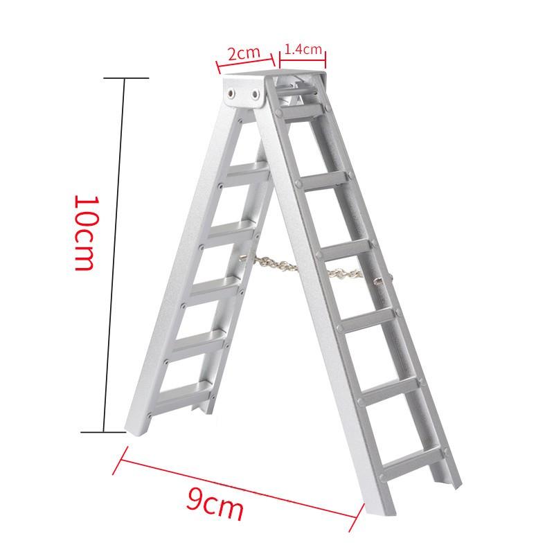 1/10 仿真 金屬 鋁製梯子 工具梯 攀爬車 攀岩車 軍卡 大腳 TRX-4 D90 SCX10 場景裝飾配件