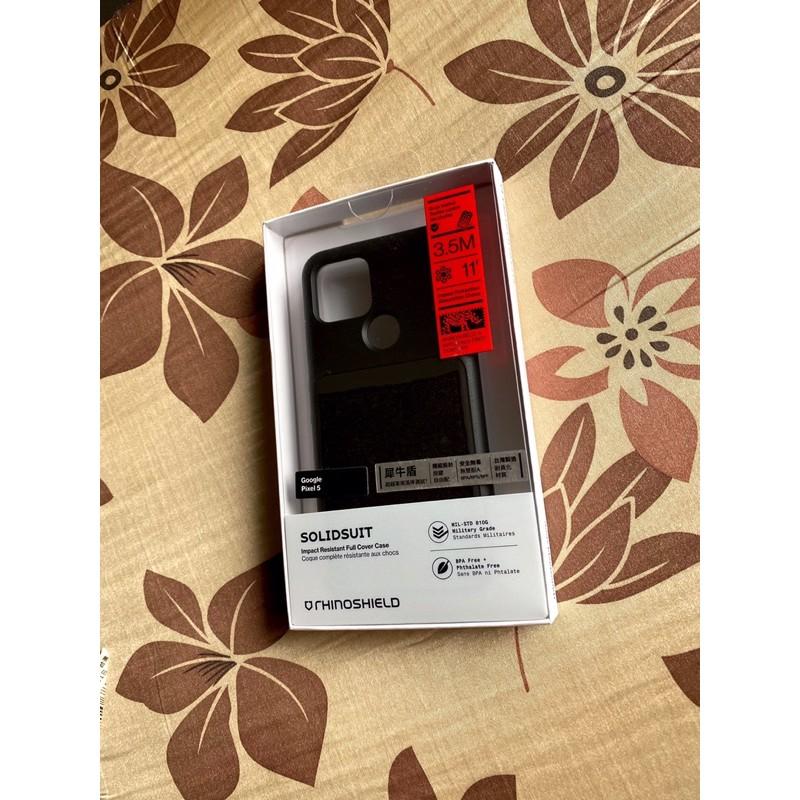 全新未拆犀牛盾 Pixel 5 SolidSuit Google 軍規防摔保護殼手機殼手機套 Pixel5 黑色 賣