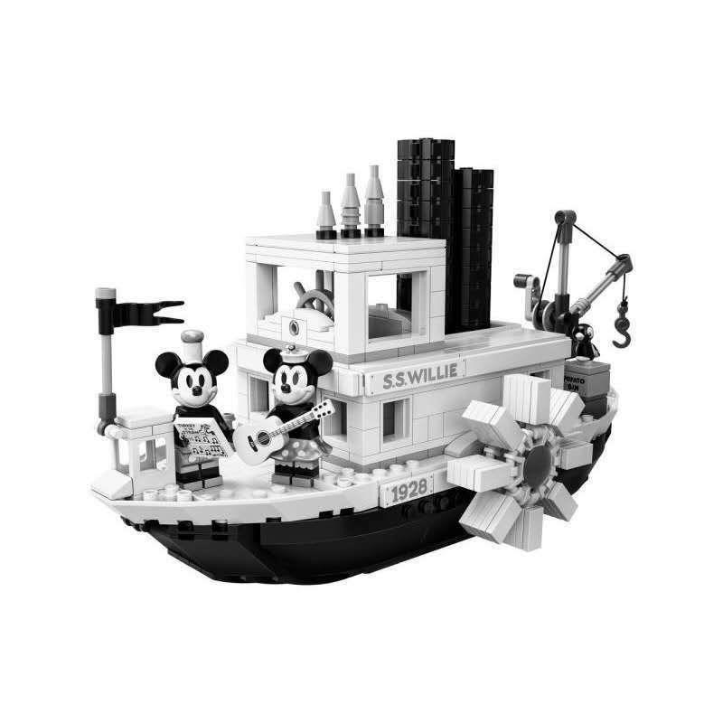 新款【樂高積木】LEGO樂高21317  Ideas 米奇老鼠90周年 汽船威利號拼裝積木玩具