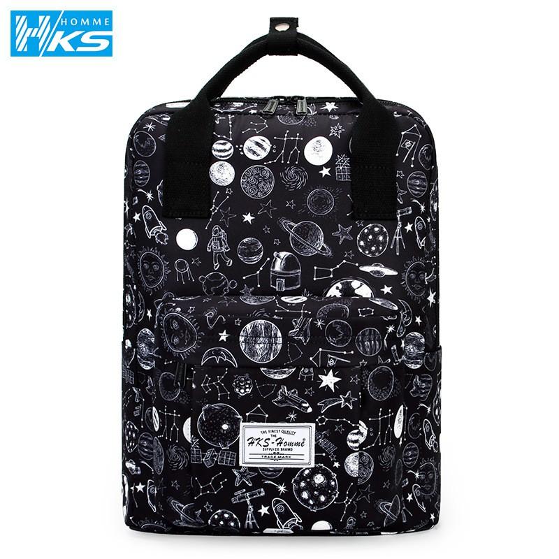 後背包 HKS-HOMME 時尚插畫列後背包 14吋 / HKS-9021-47