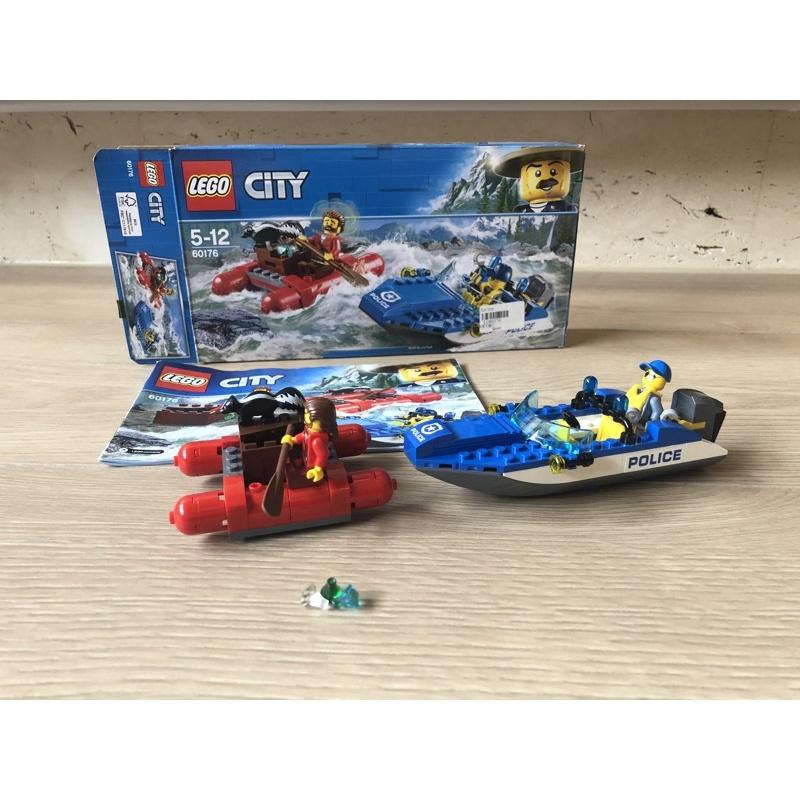 二手 正版Lego 60176 急流大逃亡