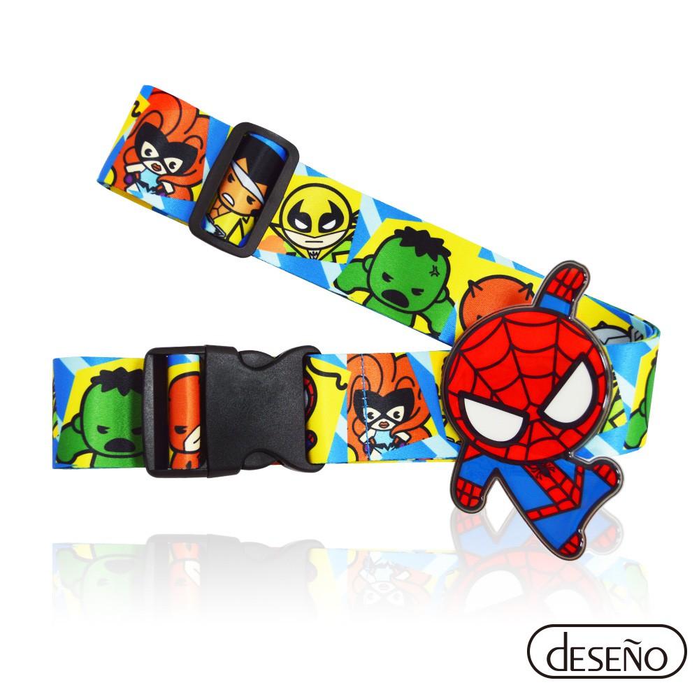 Deseno笛森諾 Marvel 漫威英雄立體名牌束帶-蜘蛛人