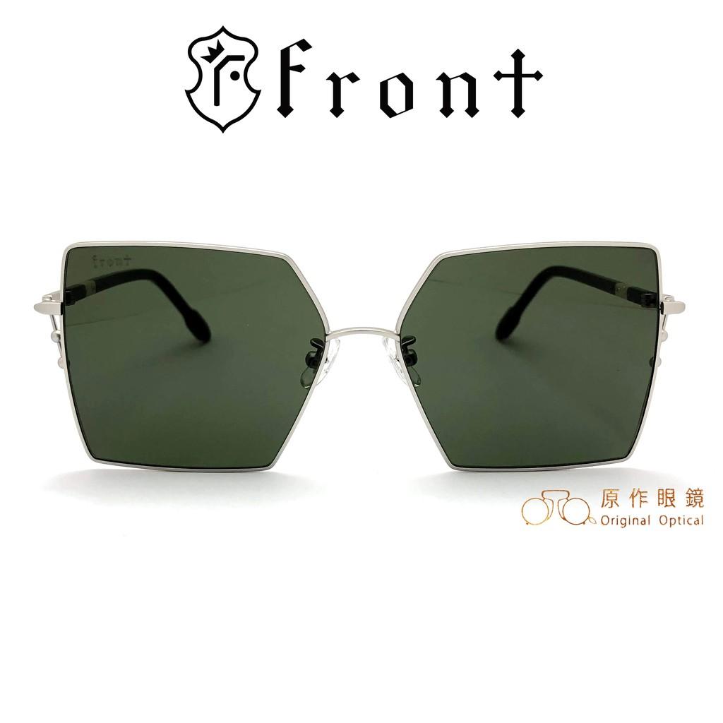 Front 太陽眼鏡 Oxygen Sv01 (銀/綠) 墨綠色鏡片 韓系潮流 墨鏡【原作眼鏡】