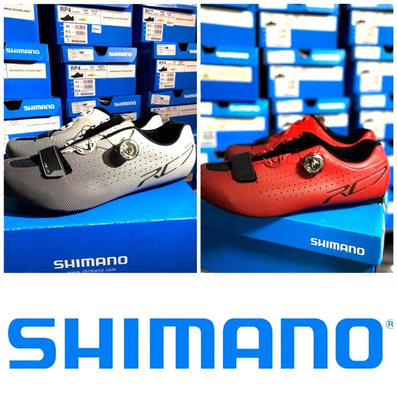 拜客先生-【SHIMANO】現貨 RC7 紅 公路車鞋卡鞋 男 SPD-SL寬版 BOA旋  41號出清