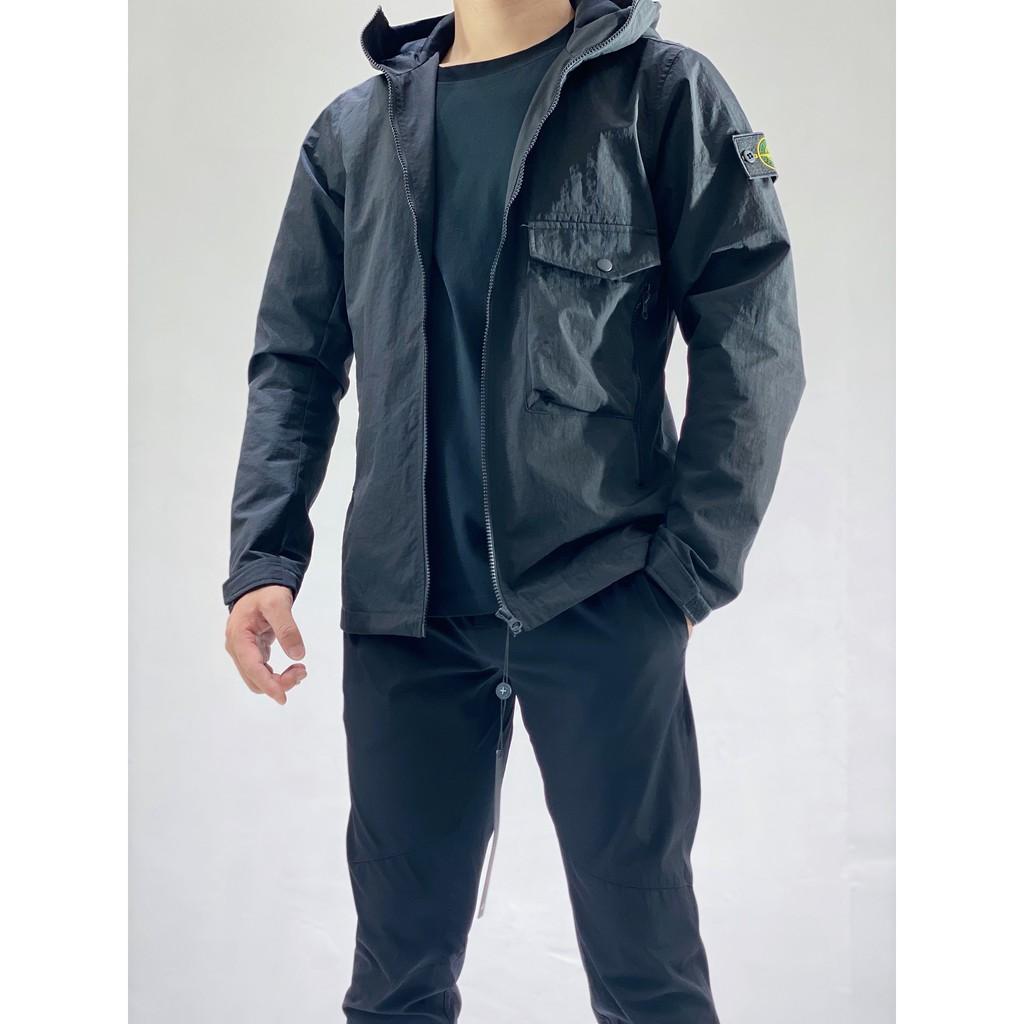 出口島國訂單! Stоne islаnd 石頭島 連帽機能夾克 防護者系列戶外機能裝備的首選  連帽風衣外套