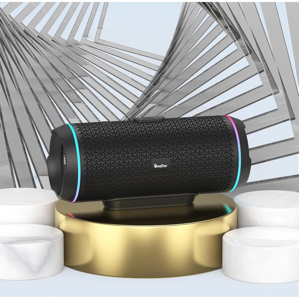 藍牙音響 藍牙無線音響可tws1+1串聯OnederV10帶收音功能的藍牙無線音響喇叭輕便携帶多種顔色可選(現貨)
