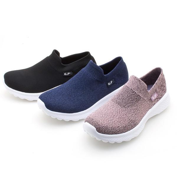 【G.P】極透氣軟織布束口鞋P5884W-黑色/藍色/粉色(SIZE:36-40 共三色)