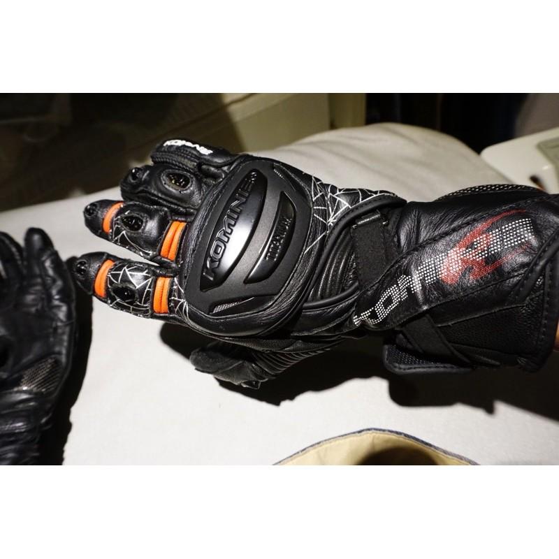 komine gk235 gk-235 賽道手套 競技手套 長手套 夏季手套 打孔 透氣 九成新 L 號
