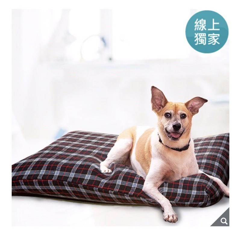 (宅配免運)KuddleKrew毛得舒寵物床墊藍格紋 寵物床 狗床墊 狗床 寵物睡墊 好市多寵物床 貓狗睡毯 睡窩 狗墊