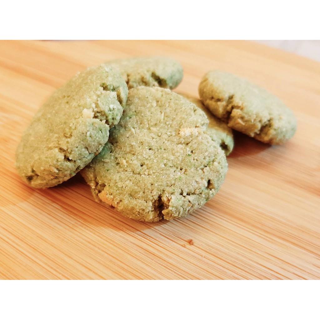 《直人☘️手作》健康低卡有機豆渣餅(200g) 抹茶口味 口感香酥 口齒留香 全素可食