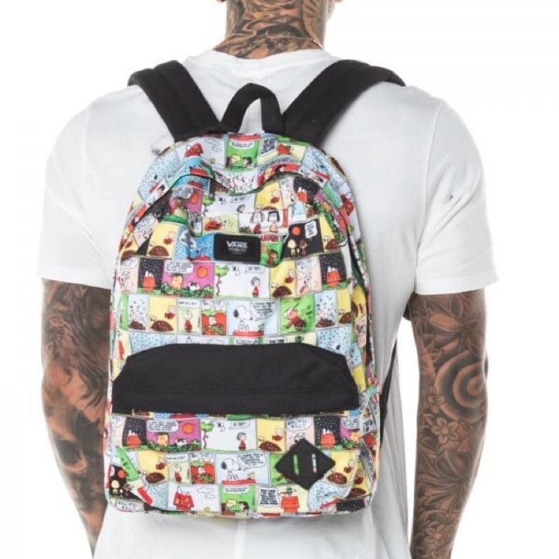VANS x Peanuts Snoopy 史努比背包 限量聯名款查理布朗後背包 書包 snoopy comic漫畫背包