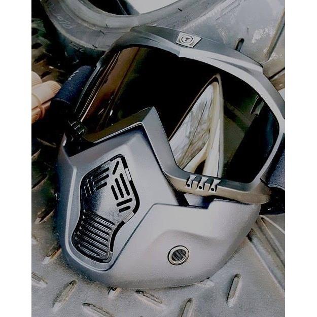 《King2》美國 TORC T-50 MASK 鬼面具 風鏡 抗UV 面罩 適用於半罩安全帽 綁帶式