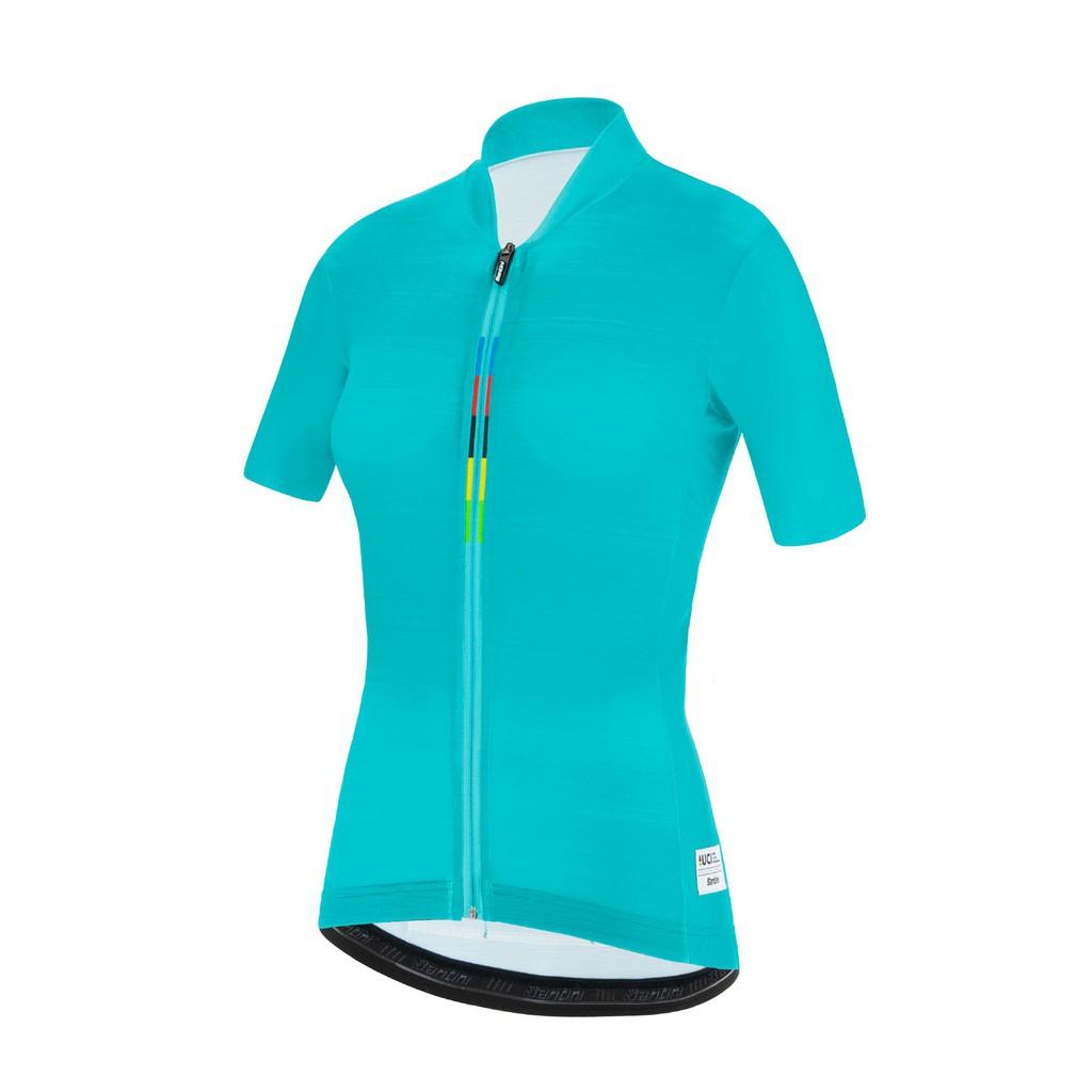 🔥全新公司貨🔥Santini UCI彩虹「喚醒」女性短袖車衣 水綠 低風阻/高透氣/競賽級 新上架