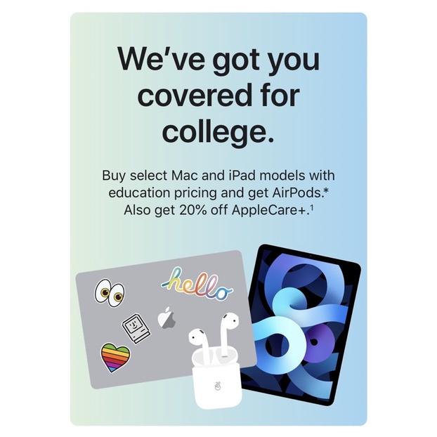 Apple BTS 2021 Back to School代購 (MacBook/iPad/AirPods)