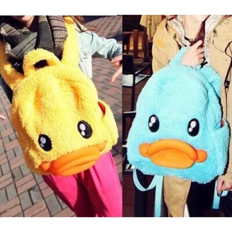 《現貨》黃色小鴨鴨後背包 藍色小鴨鴨背包
