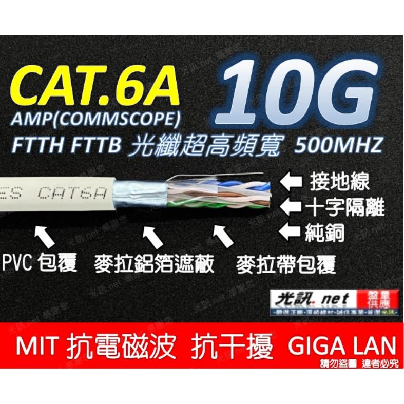 [ 美國品牌 AMP 10G ] COMMSCOPE CAT.6A FTP 鋁箔隔離 超高頻網路線 CAT6A 光纖網路