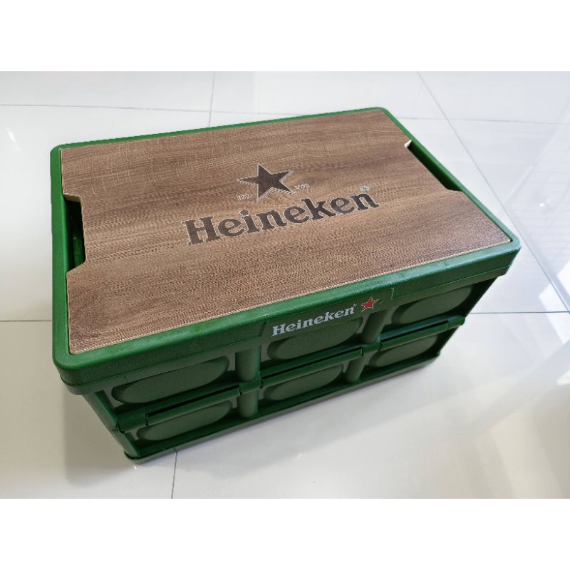 海尼根摺疊收納箱桌 綠色 ( 客訂)