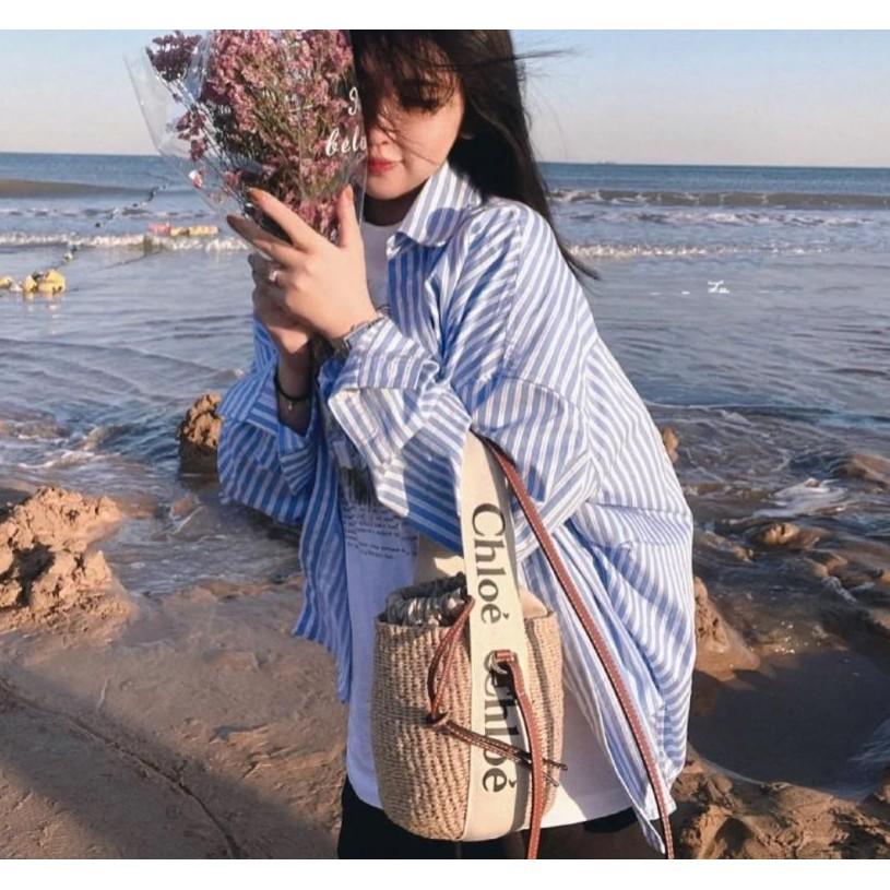 Chloe克洛伊爆款ss21 Woody菜籃子托特包tote小號緞帶單肩包