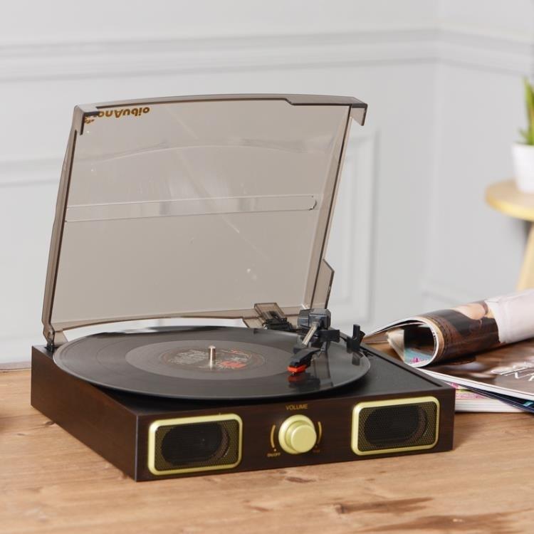 限時8折 領劵折現 留聲機 熱賣唐典仿古Lp黑膠唱片機復古留聲機老式黑膠唱機電唱機免運直出