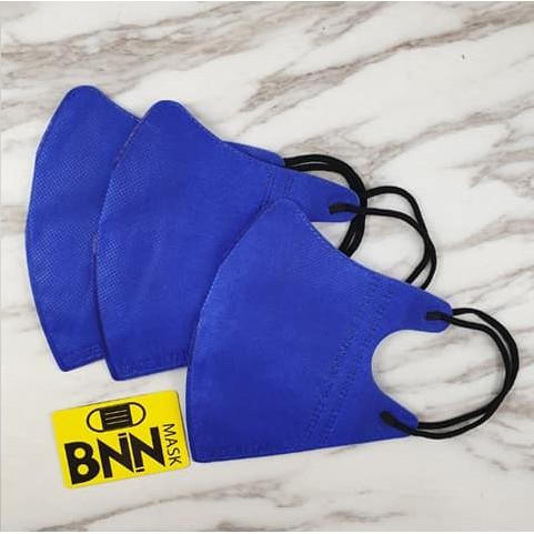 【BNNxMASK】大特賣 BNN 50入盒裝 成人立體四層口罩 V系列 搖滾黑 寶藍 無鼻樑壓條 原廠正品 現貨平價供
