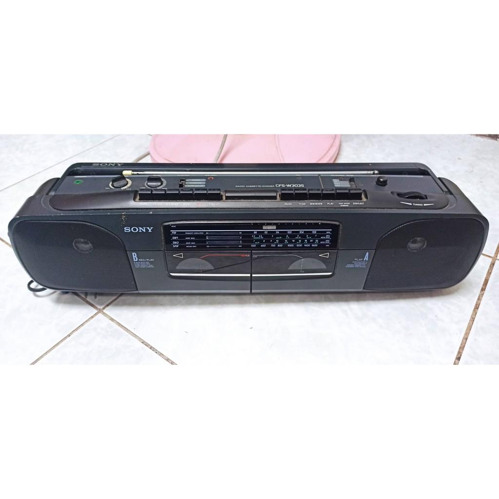 sony cfs w3035 雙卡 手提式 音響