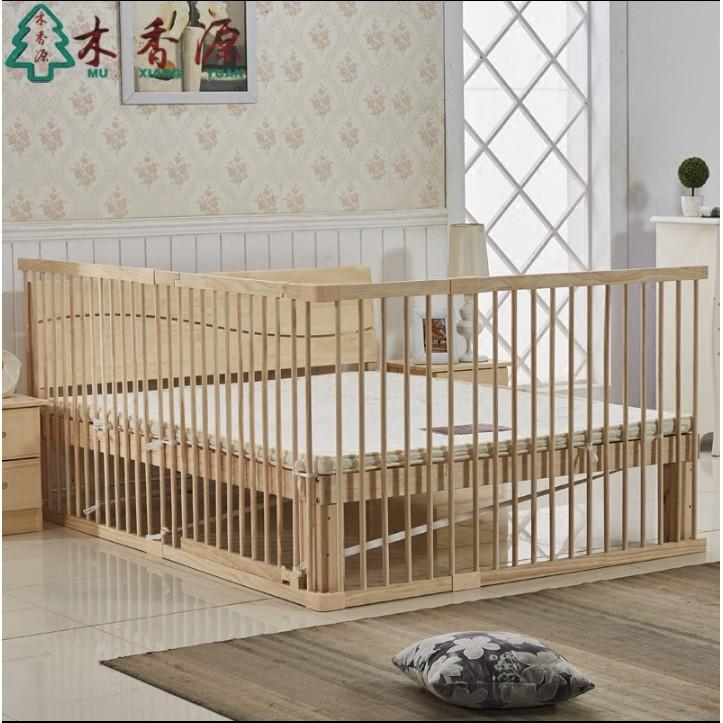 床護欄落地式圍欄實木1.8/2米欄杆 防摔擋板通用防掉床 加高90cm-洛麗塔爆款推薦