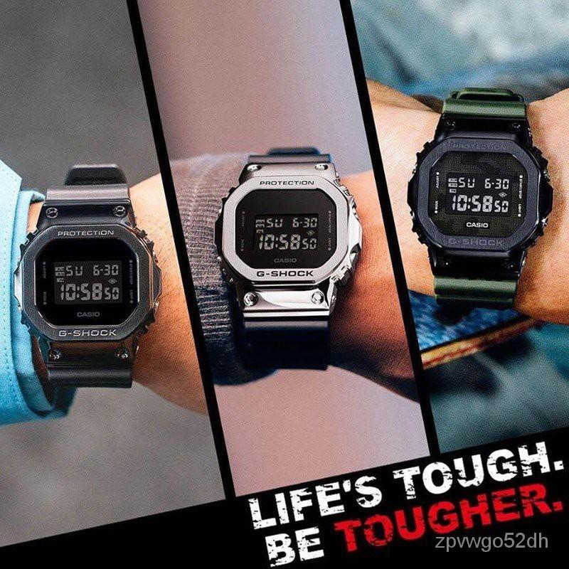 正品卡西歐金屬小方塊G-SHOCK復古運動手錶GM-5600-1/B/S5600PG-4 g2gb