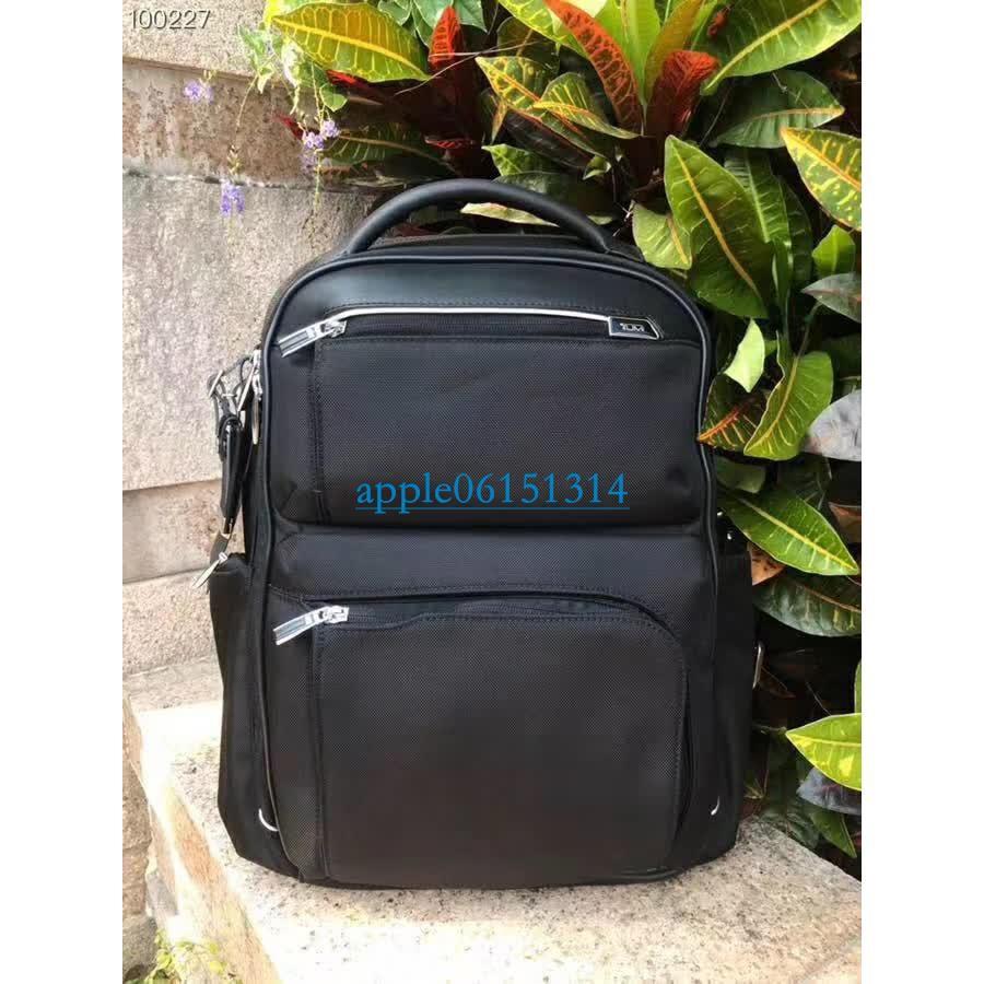 *藍天小舖* TUMI 255012 D2 防彈尼龍 真皮 皮質 雙肩包 後背包 可放15吋筆電