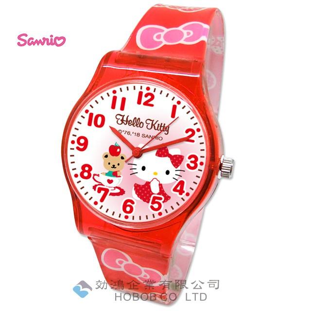 hello kitty 休閒兒童手錶_34mm(大膠)