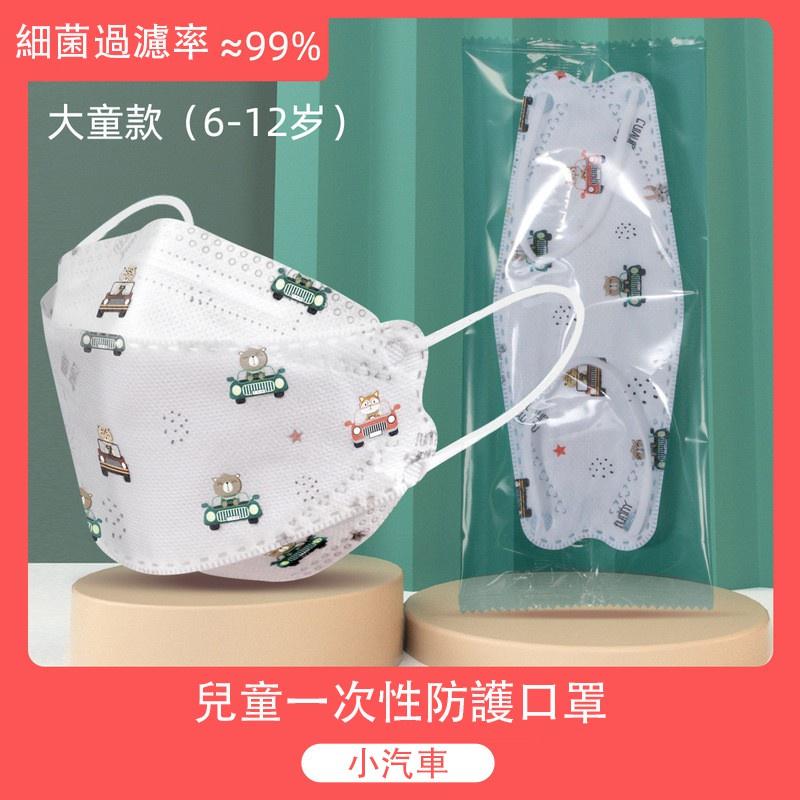 台灣24H出貨 獨立包裝 10片裝起 KF94兒童4D立體魚型 一次性口罩透氣韓版幼兒園男女寶寶小學生 防水 寶寶專用
