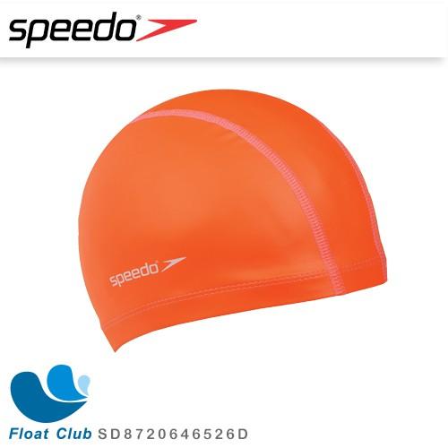 【SPEEDO】 成人合成泳帽 Pace 橘 SD8720646526D