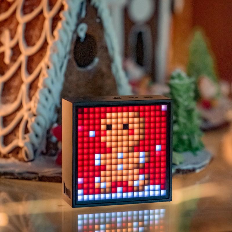 藍牙小音響⊕⊙✢Divoom點音藍牙像素鬧鐘音箱創意便攜無線迷你小音響TIMEBOX-EVO隨身歌詞小型網紅大音量戶外七