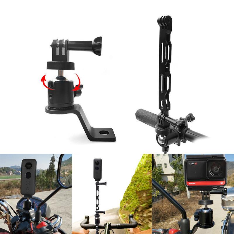 摩托車自行車攝像機支架車把後視鏡安裝支架 1 / 4 金屬支架, 用於 Gopro Insta360 One X R 相