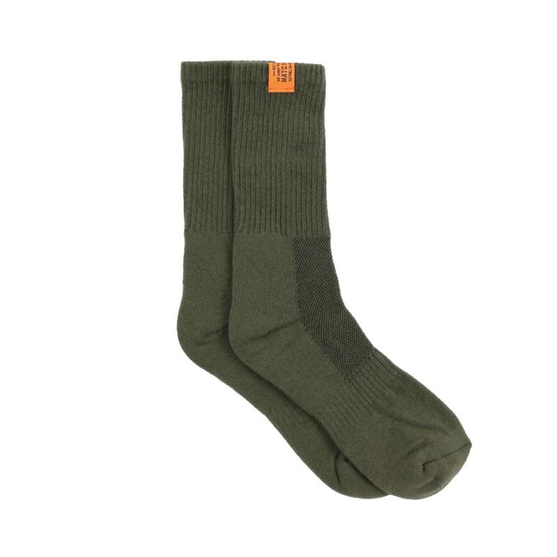 Matchwood Basic Sock 經典布標中筒襪 橄欖綠款 官方賣場