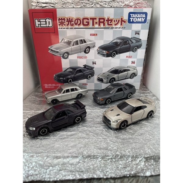 Tomica Nissan 日產 榮光 GT-R 車盒組 盒車 R-32 R-33 R-34 PGC10 多美 TOMY