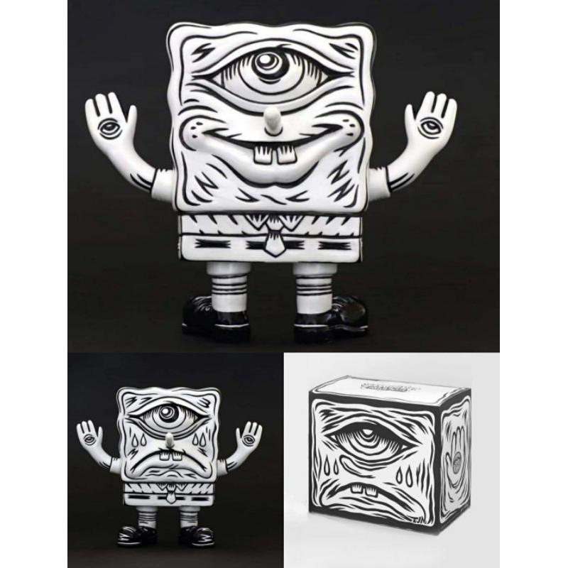 unbox 海綿寶寶 黑白 絕版品