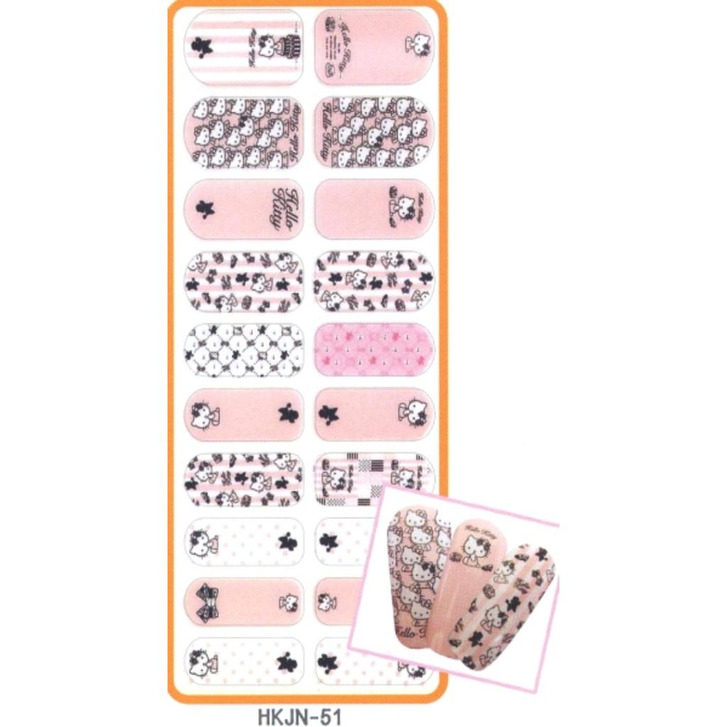 Hello Kitty 搖滾指甲彩繪貼 -51 /美甲貼