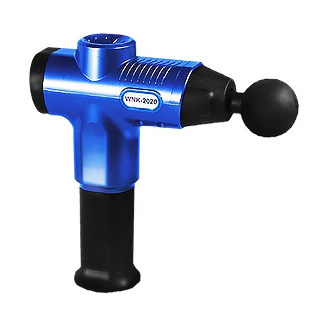 專業級深層震動筋膜槍-附贈六種按摩頭/藍色S0081-N