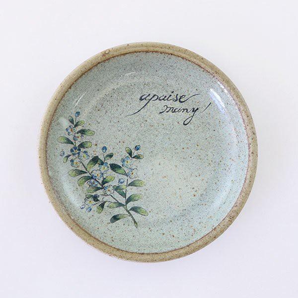 《齊洛瓦鄉村風雜貨》日本zakka雜貨 日本製職人手工製作勿忘草系列瓷器 小圓盤 小餐盤 蛋糕盤