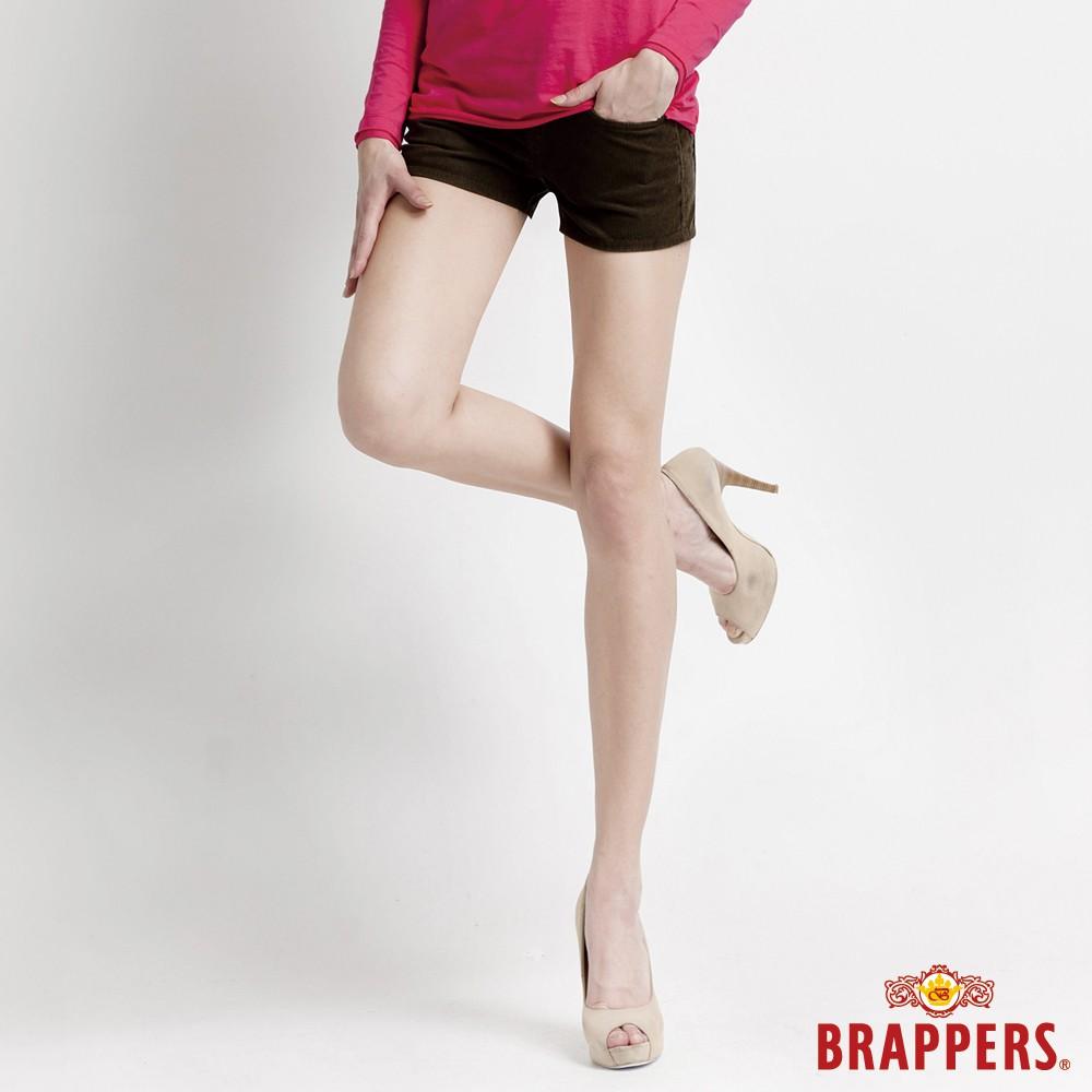 BRAPPERS 女款 Boy Friend Jeans系列-彈性條絨短褲-深綠